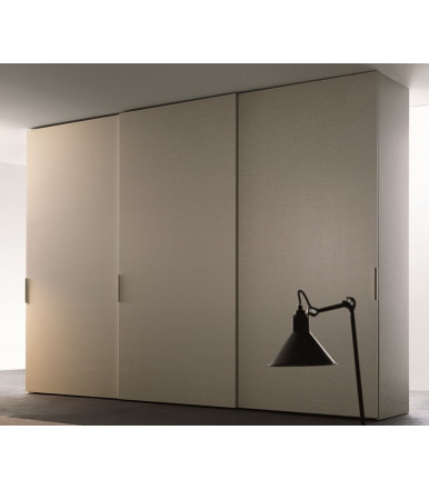 Complete Sliding system Kit for wardrobe doors with veneered panels model STAR 2, up to 3 mt.