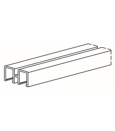 Binario superiore da 3 mt. per anta vetrina Serie 1600, Art. 1604/A/S