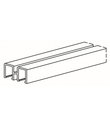 Upper rail 3 mt. for glass-front cabinets Series 1600, Art. 1604/A/S