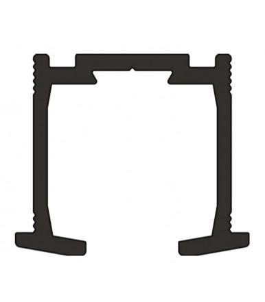 Binario in alluminio da 1 mt. per porta pieghevole Art. 2670/A