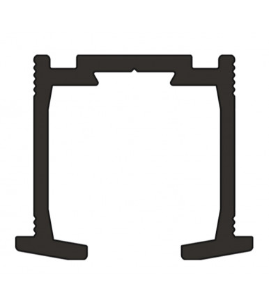 Guìa de aluminio 1 mt. para puertas plegables Art. 2670/A