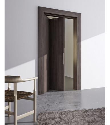 Guarnitura porta scorrevole, pieghevole con binario in alluminio 1mt Serie Foldy