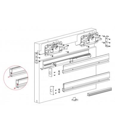 Kit Sistema scorrevole per porta in legno DIVA AIR Terno Scorrevoli