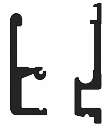 Guìa de aluminio 1 mt. para puertas plegables Art. 2670