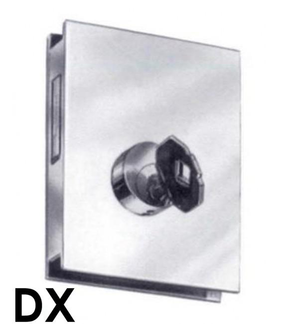 Serratura per vetro a doppia mandata, gioco americano Art. S.1206 Renato Fattorini