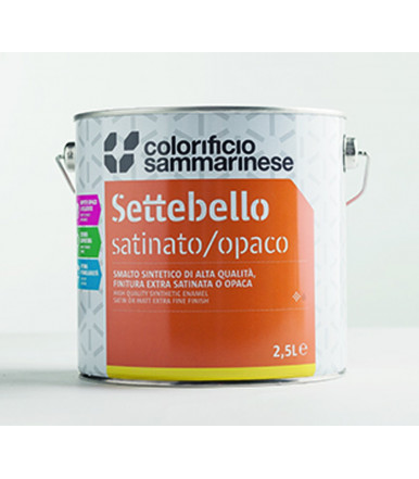 Colorificio Sammarinese multi-purpose satin synthetic enamel Settebello Satinato/Opaco