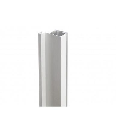 Single vertical throat profile for columns in silver anodized aluminum Volpato 80 / G1.6AL