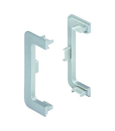 Set tappi terminali esterni Volpato 81/G1.AT2 per profilo gola orizzontale classico 80/G1.2AL