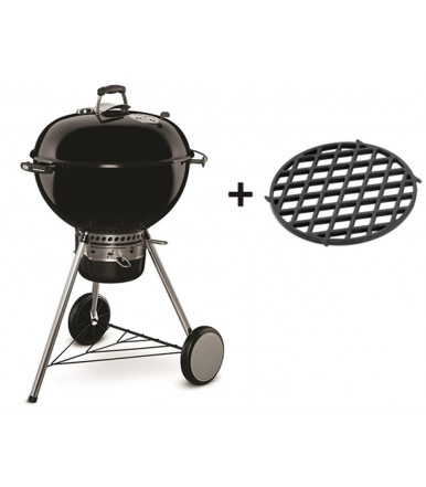 Barbecue a carbone Weber Master-Touch Ø 57 cm Black Gbs + griglia di rosolatura 8834