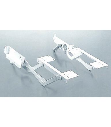 Kesseböhmer Set 2 bandejas retráctiles y ajustables para armario rinconero LeMans II