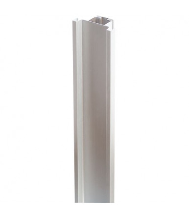 Profilo gola verticale doppio per colonne in alluminio anodizzato argento Volpato 80/G1.5AL