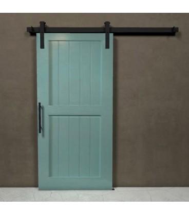 ensemble de syst me coulissants pour portes avec rail. Black Bedroom Furniture Sets. Home Design Ideas