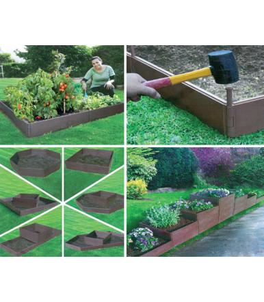 Juego de paneles para jardinera o huerto, lineal o suprayacente