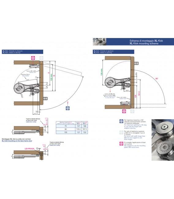 Ferrari Kit zamak Flap join stay Klok XL for wooden frame flap doors