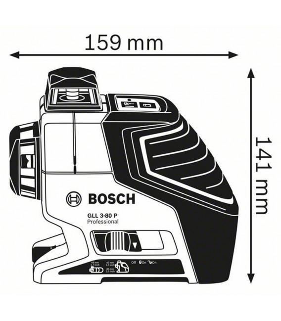 Livella laser a linee con treppiedi Bosch GLL 3-80 P + BS 150