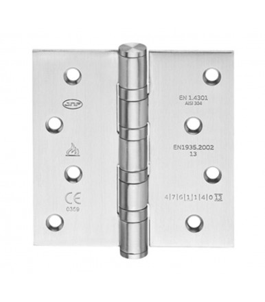 Hinge inox with corners 100x100 mm - fire proof art. IN.05.021.100.CF JNF