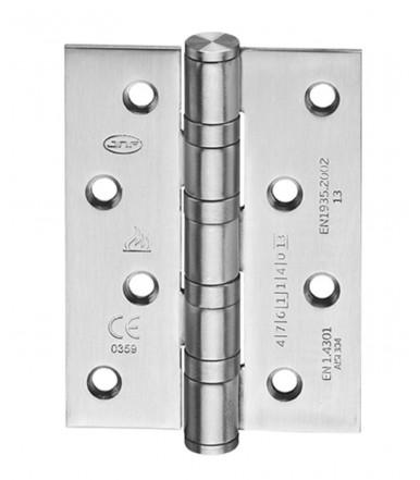 Cerniera acciaio inox 4 cuscinetti con angoli da 100x75 mm art. IN.05.020.100.CF JNF