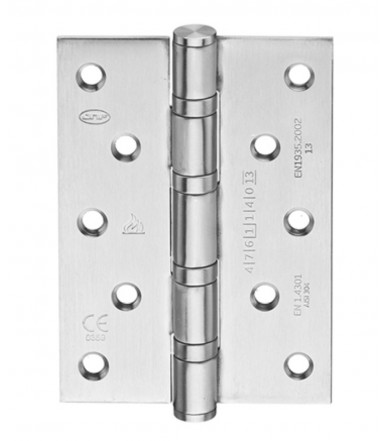 Safety Hinge inox with corners 125x89 mm - fire proof art. IN.05.020.125.CF JNF
