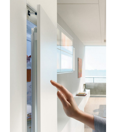 Electrical opening support system for handle-less built-in refrigerators SERVO-DRIVE flex Blum