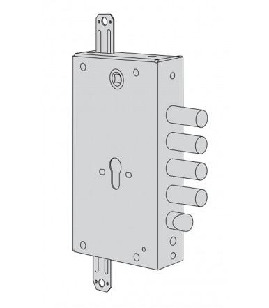 Cisa B6515 Revolution cylinder lock for armoured doors with gear mechanism