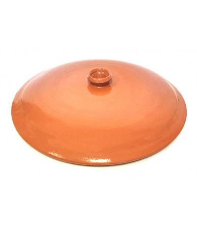 Coperchio in terracotta con pomolo centrale