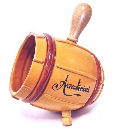 Majolika Krug Arrostibotte für Spieße und Arrosticini