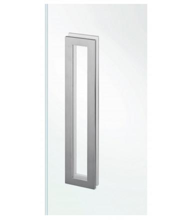 Maniglia rettangolare acciaio inox a filo per vetro senza foro art.IN.16.559.A JNF