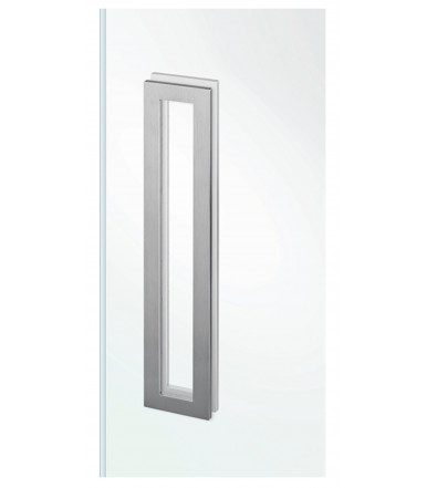 Rechteckiger Edelstahlgriff für Glas ohne Loch art.IN.16.559.A JNF