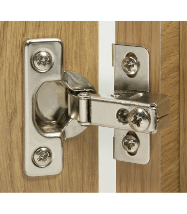 Hinge with short arm for thin hinged door 343.82.240