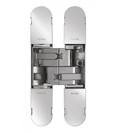 Cerniera invisibile, regolabile per porta Ceam Art.1130s foro 134X24 mm