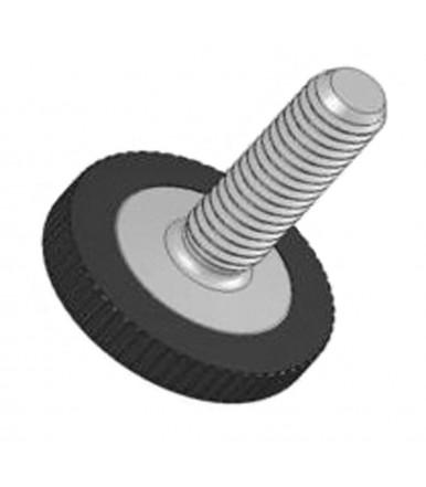 Mauri Adjustable iron foot, galvanized, 12 pcs, base Ø 21 mm with screw M6x25 mm