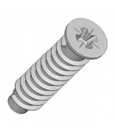 Mauri Euroscrew Flat CSK head, galvanized, 100 pcs, with ribs cross type PDZ
