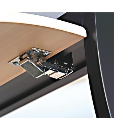 Bisagra 90° con mecanismo de amortiguación para puerta elevable, CH 600, Para puertas hasta 2,1 kg 356.36.606
