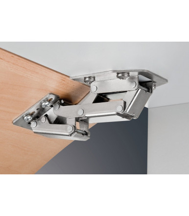 Swing Up Flap Hinge 90° CH 300 with soft closing mechanism, for overlay mounting for light flaps up to 2,1 kg 356.36.607