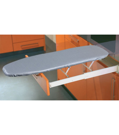 568.60.793 Ironing Board lateral built in furniture Ironfix with aluminium cover