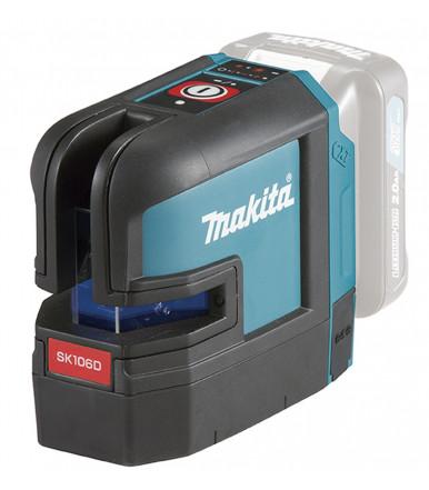 Makita SK106DZ 12Vmax Akku-Kreuz Linienlaser 25 m - 2 Rote Laser