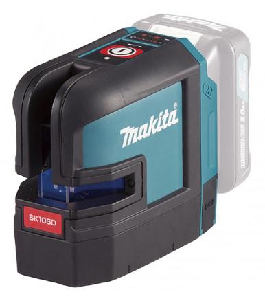 Tracciatore laser 25 m 2 linee rosse a batteria 12Vmax Makita SK105DZ