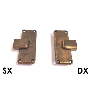 Anselmi Bronzed lock inlet 25 mm for furniture door Art.710.25
