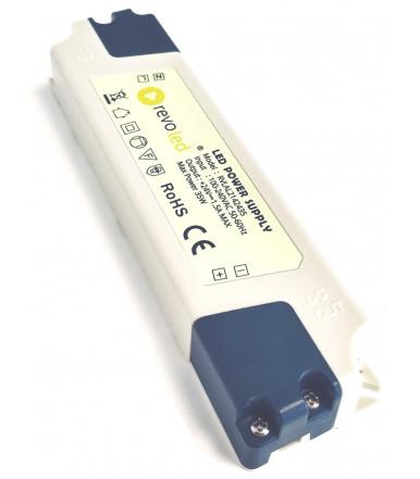 Alimentatore Ultraslim plastica da 35 W 24 V con uscita a tensione costante Revoled