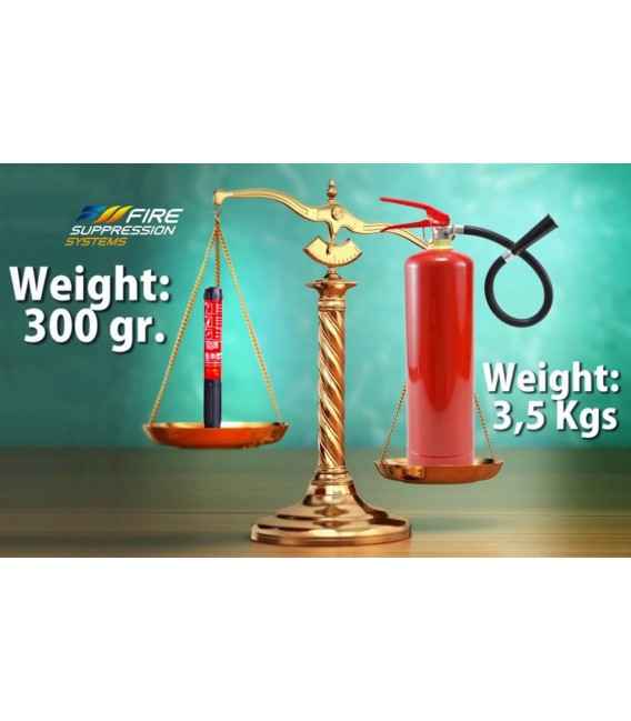 Fire Suppression Systems, portable manual aerosol fire extinguisher for household use FSS 25