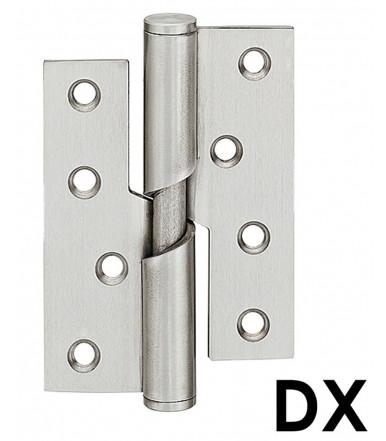 Paumelle montant à visser en acier inoxydable pour portes intérieures à recouvrement jusqu'à 40 kg, 102x76 mm art.926
