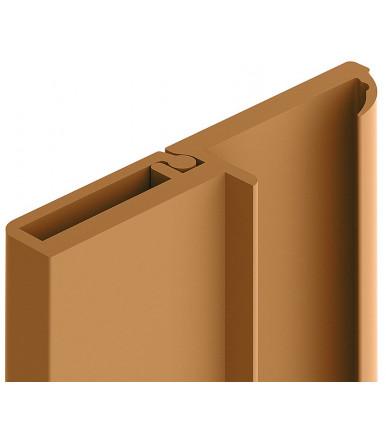 Profilo di battuta in PVC elastico con aletta per armadio da 2.75 mt art.239