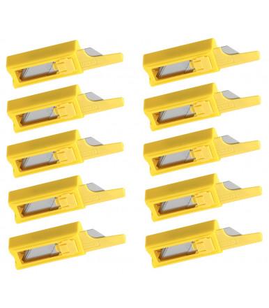 6-11-916 Stanley Trapezklingen 1992 für alle Trapezklingenmesser geeignet, Packungen 100 St. in 10 Dispenser