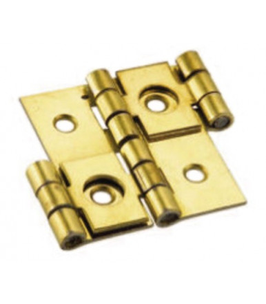 Cernierificio Valtoce brass plated steel hinge for screens Art.342