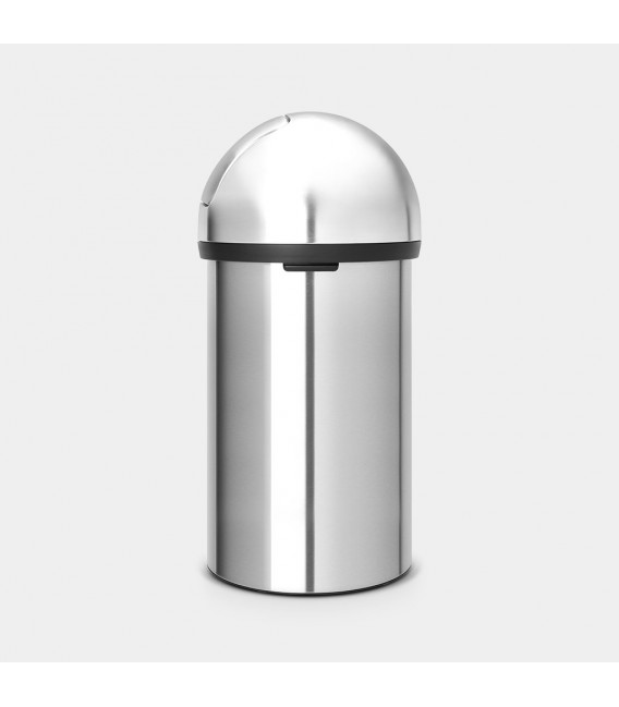 Brabantia Push Bin 60 litre - Matt Steel