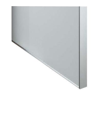 Anta per mobile con profilo in alluminio e pannello in vetro acidato
