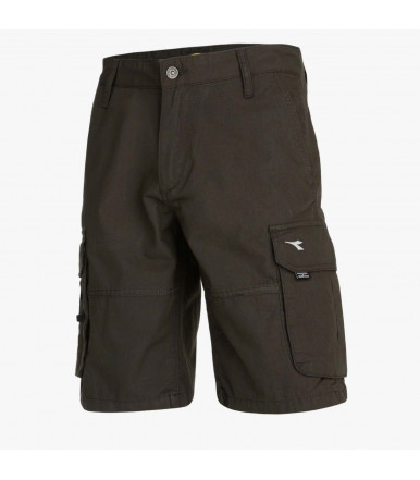 Bermuda work shorts Diadora Utility Wonder II Black Fir Green