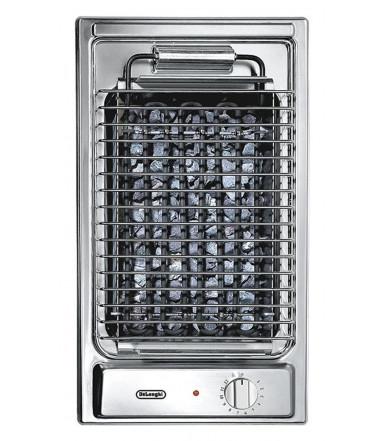 Piano cottura Domino Barbecue in acciaio inox da 30 cm De' Longhi BQI 13-2