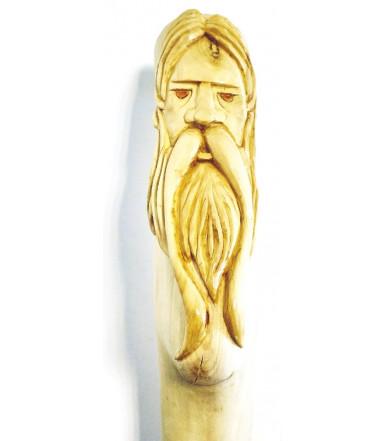 Bastone da passeggio intagliato a mano in legno di ligustro 131 cm