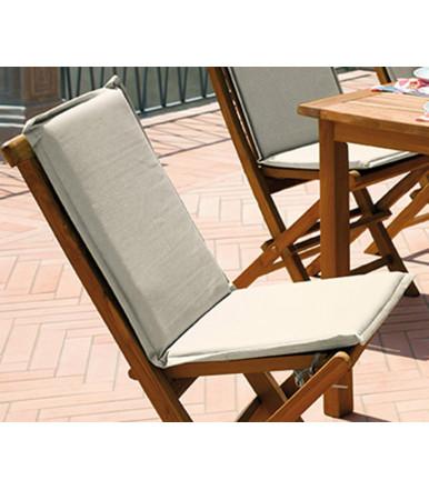 Cuscino ecru' sfoderabile completo per sedia Salina